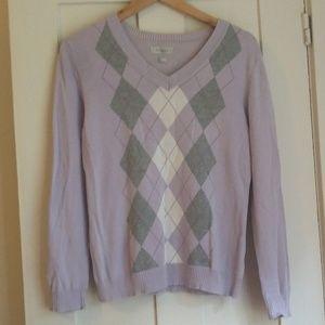 Lilac Argyle Sweater
